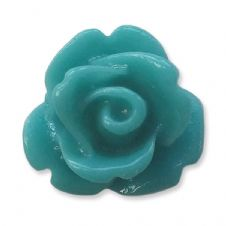 10mm Ocean Blue Small Resin Rose Buds